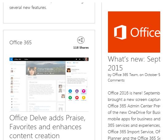Změny v Office 365 pro rok 2017
